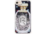 【在庫限り】 Liquid Case for Apple iPhone 7/8 - Perfume Round Black Little Stars 15564