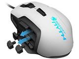 有線レーザーゲーミングマウス[USB 1.8m・Win] NYTH (ホワイト) ROC-11-901-AS