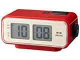 LCDレトロアラームクロック S(レッド) BCR003-RD