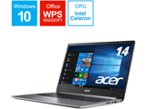 モバイルノートPC Swift 1 SF114-32-N14Q/S スパークリーシルバー [Win10 Home・Celeron・14インチ・SSD 128GB・メモリ 4GB]