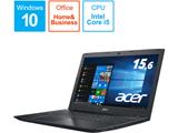 ノートPC Aspire E 15 E5-576-F54D/KF オブシディアンブラック [Core i5・15.6インチ・Office付き・HDD 500GB・メモリ 4GB]