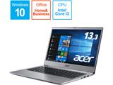 モバイルノートPC SF313-51-A34Q/F スパークリーシルバー [Core i3・13.3インチ・Office付き・SSD 128GB・メモリ 4GB]