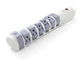 1.8m [8個口(回転6+固定2)] 可動式電源タップ S9P810C6