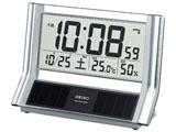 SQ690S (シルバー) 電波置き時計