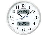 電波掛け時計 「ネクスタイム」 ZS250W 白パール