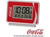 目ざまし時計 「コカ・コーラ」 AC606R 銀色メタリック