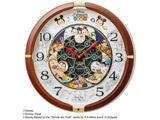 からくり掛け時計「Disney Time(ディズニータイム)」 FW588B 茶メタリック