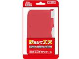 【在庫限り】 3DS LL用 TPUケース クリアレッド [SASP-0200]