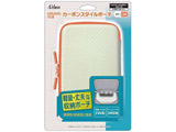 New2DSLL/New3DSLL/3DSLL用カーボンスタイルポーチ ホワイト×オレンジ[New2DS LL/New3DS LL/3DS LL]