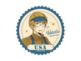 【アニメガ限定】【09/28発売予定】 ヘタリア World★Stars オリジナルステッカー アメリカ