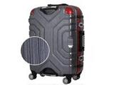 TSAロック搭載スーツケース(52L) B5225T-58 ヘアラインブラック/レッド