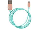 iPad / iPad mini / iPhone / iPod対応 Lightning ⇔ USB2.0ケーブル 充電・転送 (1m・ブラウン/ミント) MFi認証
