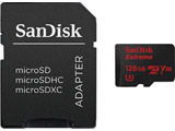 128GB・UHS Speed Class3(Class10)対応microSDXCカード「エクストリーム」(SD変換アダプタ/データ復旧ソフト特典クーポン付) SDSQXVF-128G-JN3MD