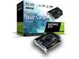 グラフィックボード GeForce GTX 1650 S.A.C DDR6  GD1650-4GERSD6 [4GB /GeForce GTXシリーズ]