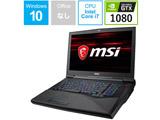 【在庫限り】 ゲーミングノートPC GT75 TITAN 8RG-008JP [Win10 Home・Core i7・17.3インチ・メモリ 16GB・GTX 1080X]