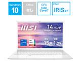 ノートパソコン Prestige 14 Evo ピュアホワイト Prestige-14Evo-A11M-785JP [14.0型 /intel Core i7 /SSD:512GB /メモリ:16GB /2020年11月モデル]