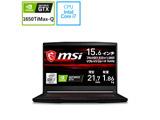 【店頭併売品】 GF63-10SC-042JP ゲーミングノートパソコン GF63 Thin  [15.6型 /intel Core i7 /SSD:512GB /メモリ:16GB /2021年3月モデル]