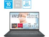ノートパソコン Modern 15 A5M カーボングレイ Modern-15-A5M-570JP [15.6型 /AMD Ryzen 7 /メモリ:16GB /SSD:512GB /2021年7月モデル]