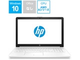 6MY34PA-AAAA ノートパソコン HP 15-db G1モデル ピュアホワイト [15.6型 /AMD Aシリーズ /HDD:1TB /メモリ:8GB /2019年4月モデル]