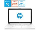 6ML85PA-AAAA ノートパソコン HP 15-db G1モデル ピュアホワイト [15.6型 /AMD Aシリーズ /HDD:1TB /メモリ:8GB /2019年4月モデル]