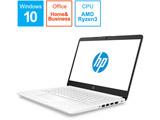 ノートPC HP 15-db G1モデル 6MD99PA-AAAA ピュアホワイト [Ryzen 3・15.6インチ・Office付き・SSD 128GB・メモリ 4GB]