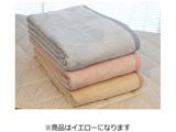 【在庫限り】 綿毛布 ムジカラー(シングルサイズ/140×210cm/イエロー)