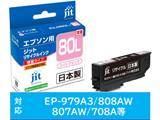【リサイクル】 [エプソン:ICLM80L(ライトマゼンタ/増量)対応]リサイクルインクカートリッジ JIT-E80LML