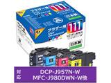 【2個セット】【リサイクル】 JIT-B1114P(ブラザー LC111-4PK対応/リサイクルインクカートリッジ/4色セット(BK/C/M/Y))