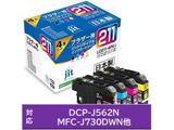 【2個セット】【リサイクル】 [ブラザー: LC211-4PK] リサイクルインクカートリッジ(4色セット) JIT-B2114P