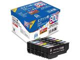 【リサイクル】 [エプソン:IC6CL80L(6色セット)対応] リサイクルインクカートリッジ JIT-KE80L6P 【ビックカメラグループオリジナル】