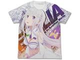 エミリア フルグラフィックTシャツ WHITE XL [Re:ゼロから始める異世界生活]