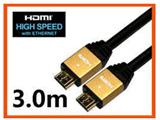 3.0m 3D映像・イーサネット対応 Ver1.4HDMIケーブル(HDMI⇔HDMI)HDM30-013GD