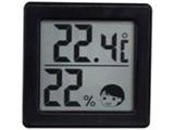 小さいデジタル温湿度計 O-257BK