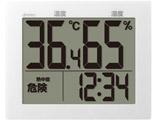 O-503WT 温湿度計 ホワイト [デジタル]