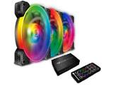 ケースファン[120mm / 1500RPM]+LEDコントローラー VORTEX RGB SPB 120 PWM HDB Cooling Kit CF-V12SET-SPBRGB