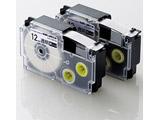 ネームランド用互換テープ/透明/黒文字/8m/12mm幅/2個パック CTC-CXR12X-2P