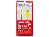 【在庫限り】 CYBER・USB充電ストレートケーブル3m ブラック×ライム CY-N2DLSTC3-BG CY-N2DLSTC3-BG ブラック×ライム