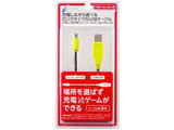 CYBER・USB充電ストレートケーブル3m ブラック×ライム CY-N2DLSTC3-BG CY-N2DLSTC3-BG ブラック×ライム