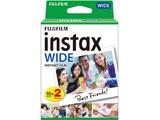 インスタントカラーフィルム instax WIDE 2パック(10枚入×2)