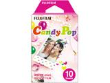 チェキ インスタントカラーフィルム instax mini 絵柄入りフレーム 「キャンディポップ」 1パック(10枚入)