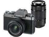 F X-T100-DS ミラーレス一眼カメラ ダークシルバー [ズームレンズ+ズームレンズ]