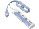 テーブルタップ 「ザ・タップスイッチシリーズ」 (4個口・2m) (ブルー) WHS2624DKP