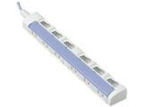 テーブルタップ 「ザ・タップスイッチシリーズ」 (6個口・1m・ブルー) WHS2616DKP