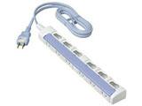 テーブルタップ 「ザ・タップスイッチシリーズ」 (6個口・2m) (ブルー)WHS2626DKP