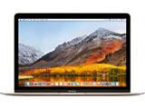 【在庫限り】 MacBook 12インチ Retina Displayモデル[Core m3(1.2GHzデュアルコア/8GB/SSD 256GB) ゴールド MNYK2J/A