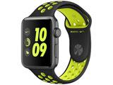 【在庫限り】 Apple Watch Nike+ 42mm スペースグレイアルミニウムケースとブラック/ボルトNikeスポーツバンド MP0L2J/A