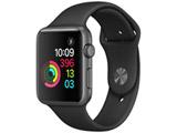 【在庫限り】 Apple Watch Series 1 42mm スペースグレイアルミニウムケースとブラックスポーツバンド MP032J/A