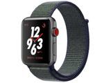 【在庫限り】 Apple Watch Nike+(GPS + Cellularモデル)- 38mmスペースグレイアルミニウムケースとミッドナイトフォグNikeスポーツループ MQMD2JA