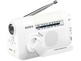 【ワイドFM対応】FM/AMポータブルラジオ(ホワイト) ICF-B09 WC 【手回し対応】