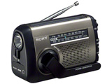 【ワイドFM対応】FM/AMポータブルラジオ ICF-B99S C 【手回し対応】